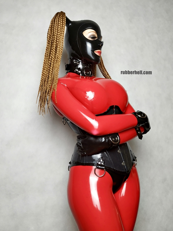 big-boobs-in-red-latex-catsuit-23